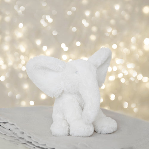 Small White Plush Elephant Toy Children's Widdop