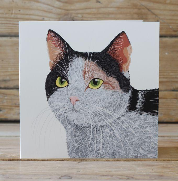 Smartie the Cat Card Stationery Bird