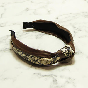 Snake Knot Hairband Accessories Zelly Brown
