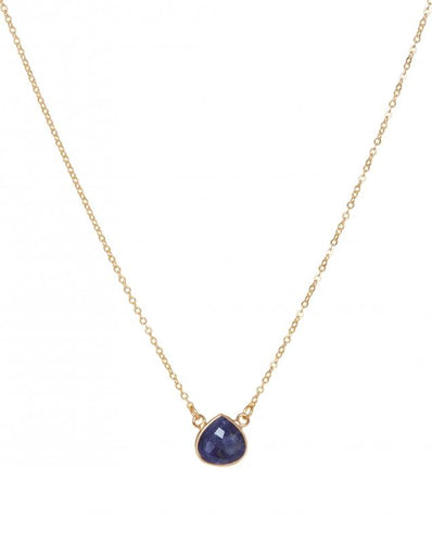 Sodalite 22 Carat Gold Plated Cosmos Necklace Jewellery Ashiana London