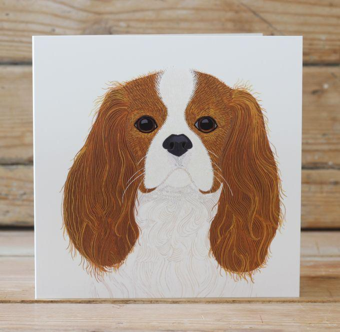 Squirrel the King Charles Spaniel Card Stationery Bird