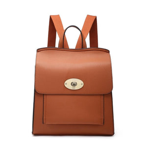 Tan Leather Look Rucksack Accessories House of Milan