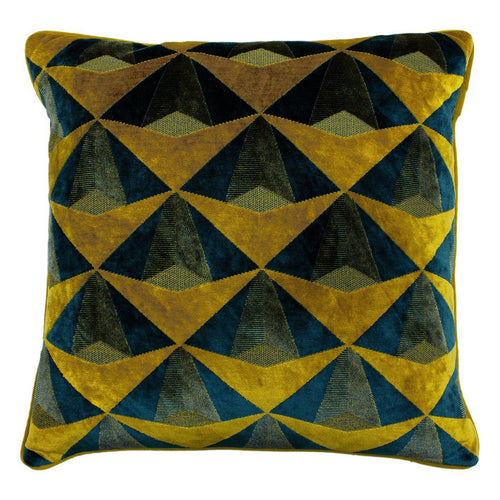 Teal and Gold Leveque Cushion Soft Furnishing Riva Home
