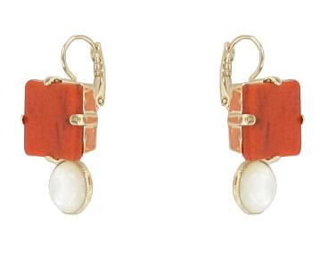 Terracotta Maui Earrings Jewellery Philippe Ferrandis