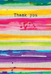 Thank You Stripe Card Stationery Sarah Kelleher