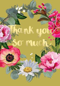 Thank You Wreath Card Stationery Sarah Kelleher