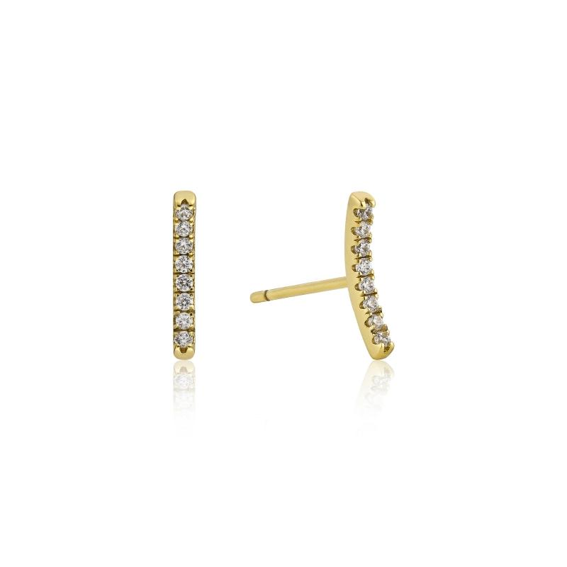 Touch of Sparkle Gold Bar Earrings Jewellery Ania Haie