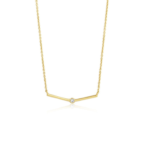 Touch of Sparkle Gold Solid Bar Necklace Jewellery Ania Haie