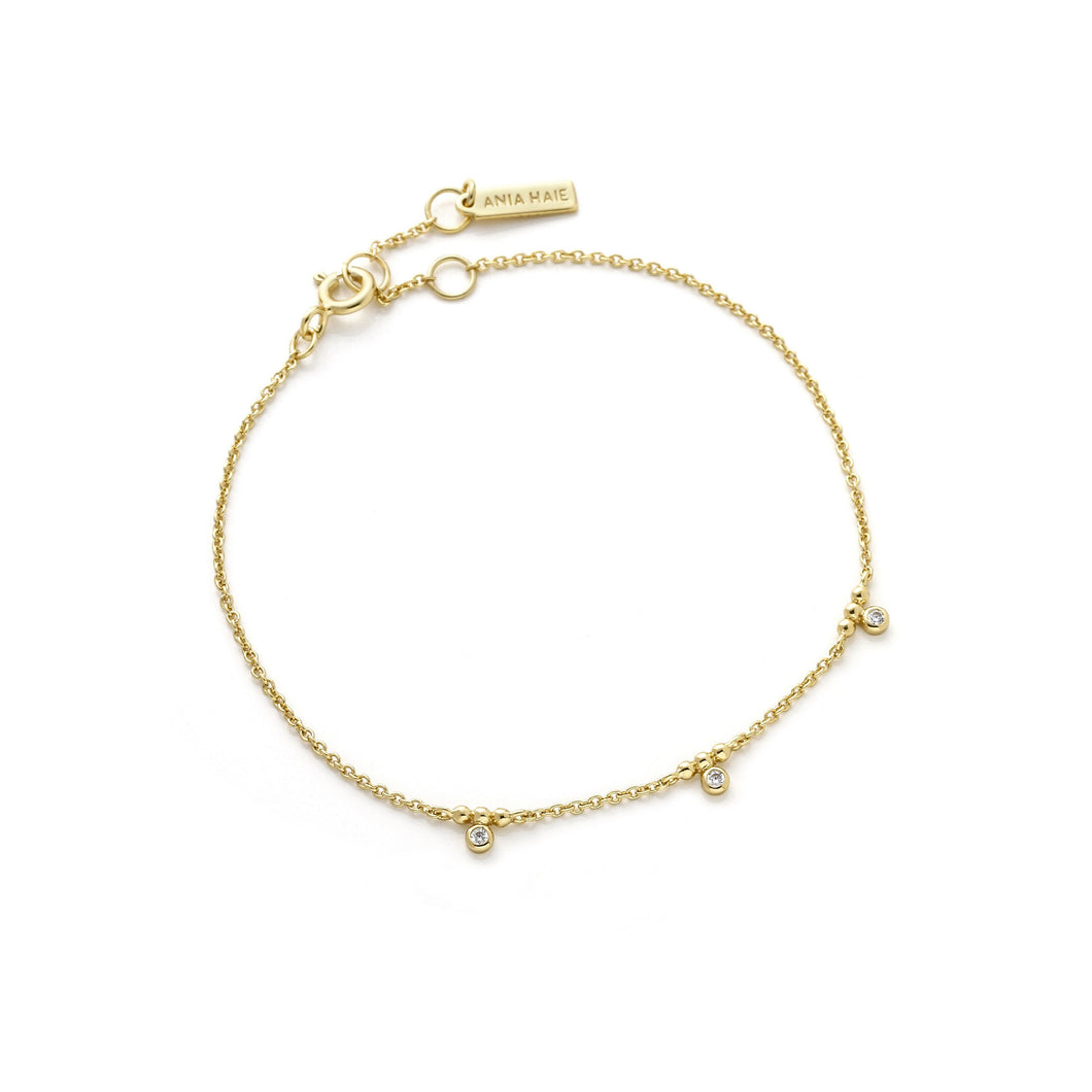 Touch of Sparkle Gold Stud Bracelet jewellery Ania Haie