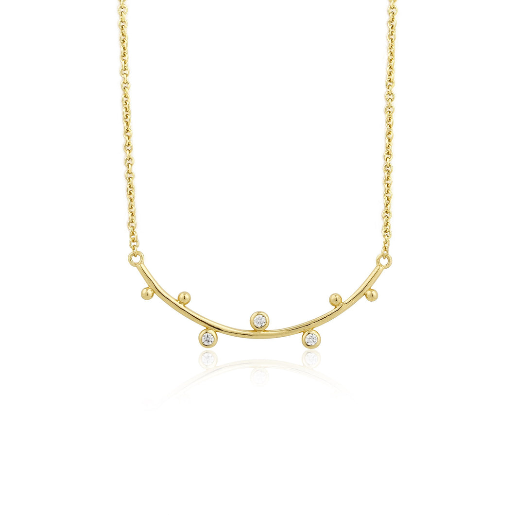 Touch of Sparkle Gold Stud Double Necklace Jewellery Ania Haie