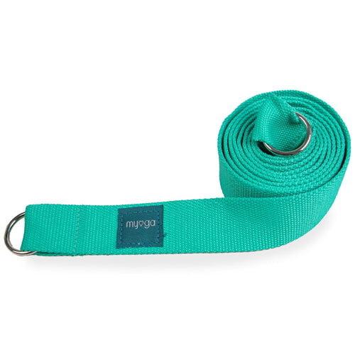 Turquoise Yoga Stretch Belt and Mat Carry Gift Ryder