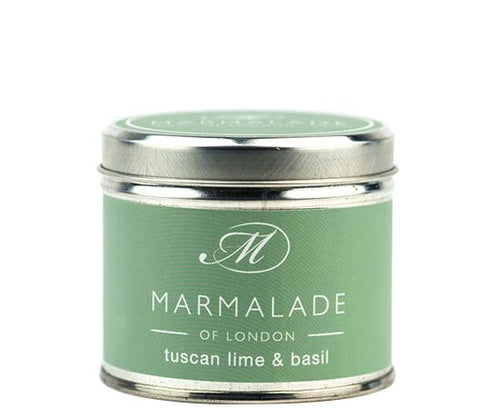 Tuscan Lime and Basil Large Tin Candle Home Fragrance Marmalade