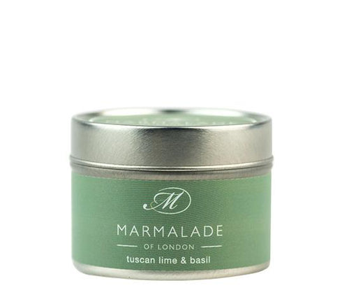 Tuscan Lime and Basil Tin Candle Home Fragrance Marmalade