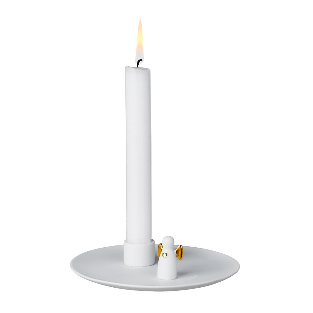 White and Gold Angel Candle Holder Homeware Rader