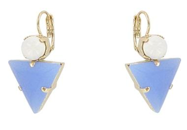 White and Pale Blue Miami Earrings Jewellery Philippe Ferrandis