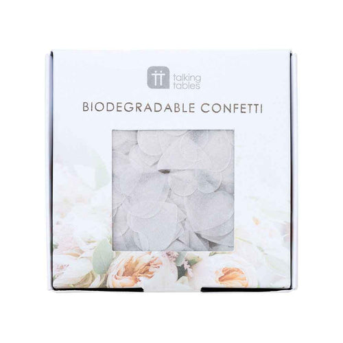 White Biodegradable Confetti Party Talking Tables
