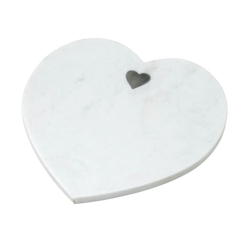White Marble Heart Board Homeware Parlane