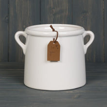 Load image into Gallery viewer, White Pot with Tag Homeware Teal