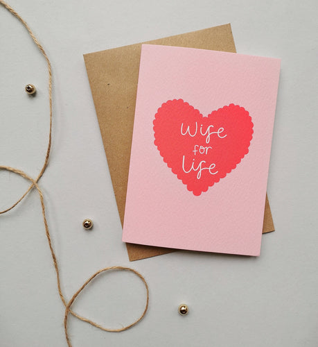 Wife for Life Card Stationery Helen Richmond