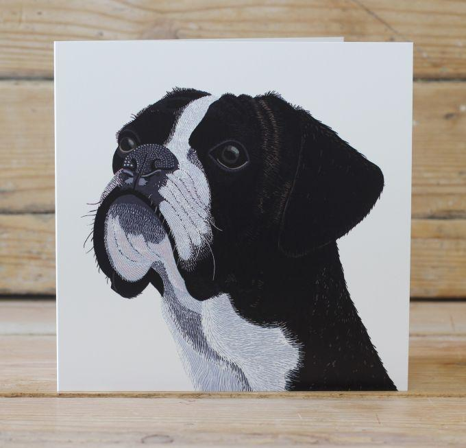 Wilf the Boxer Card Stationery Bird