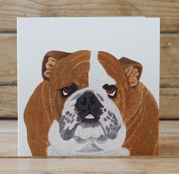Winston the Bulldog Card Stationery Bird