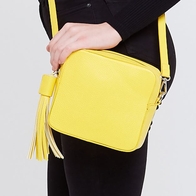 Yellow Crossbody Box Bag Accessories Kris Ana