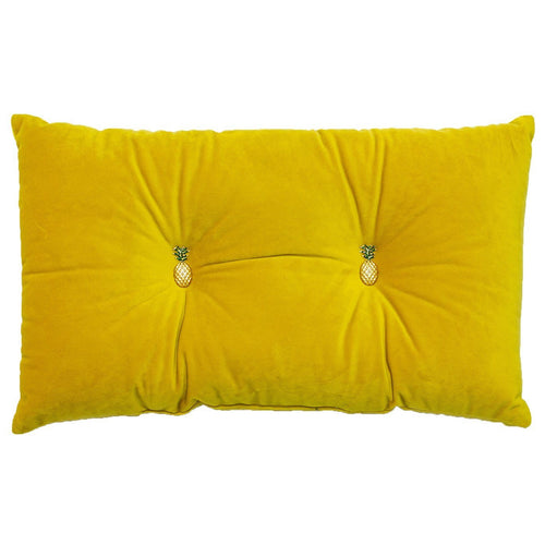 Yellow Cushion with Pineapple Detail Soft Furnishing Riva Home