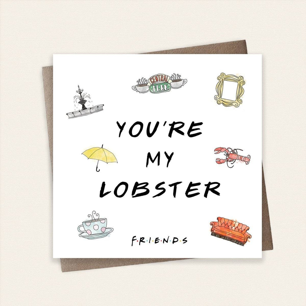 You're My Lobster Friends Card Stationery Cardology