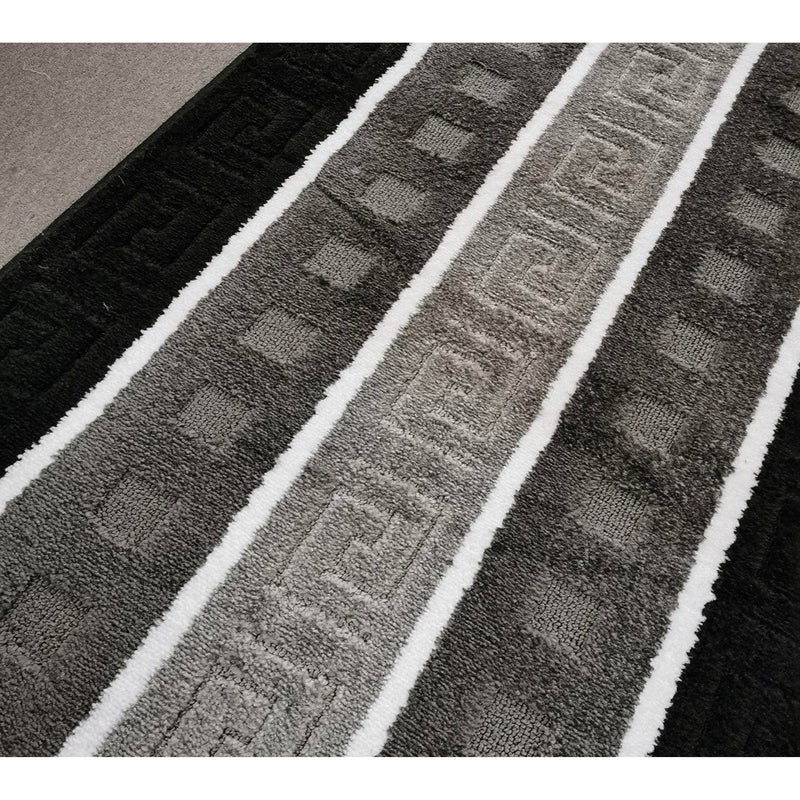 A HALLWAY RUNNERS | STRIPE KOMPLEX MULTI | Quality Rugs and Furniture