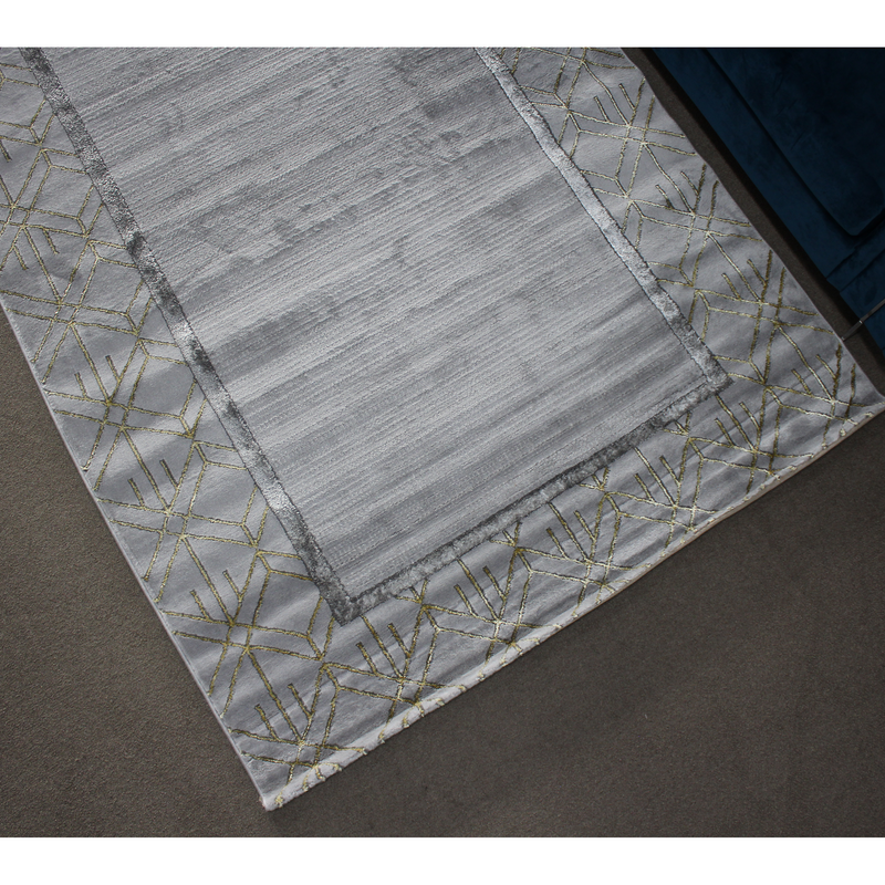 A RUG | ALMIRA HE414 L.GREY GOLD | Quality Rugs and Furniture