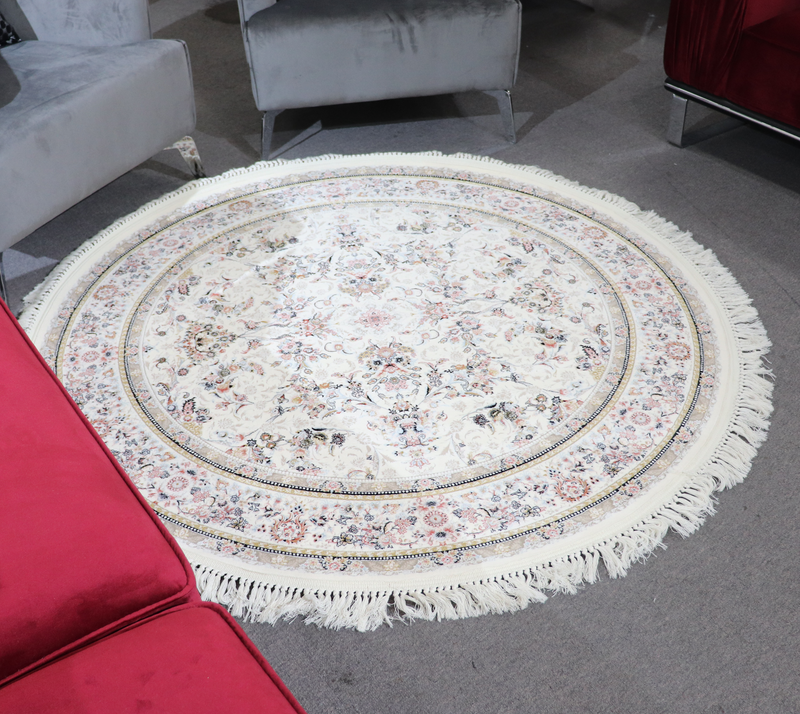 A ROUND RUG | ZOMOROD ROUND RUG 37001 CREAM | Quality Rugs and Furniture