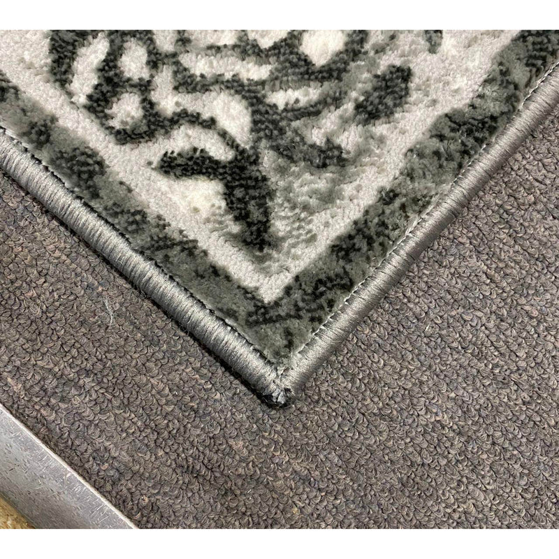 A RUG | FLORA 3030A D.GREY / D.GREY | Quality Rugs and Furniture