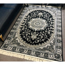 A RUG | TRANSITIONAL RUG 4757 BLACK | Quality Rugs and Furniture
