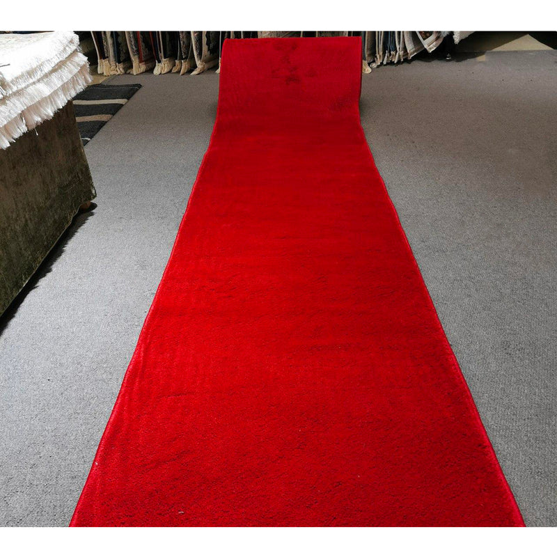 A HALLWAY RUNNERS | SUPER PLAIN BURGUNDY | Quality Rugs and Furniture