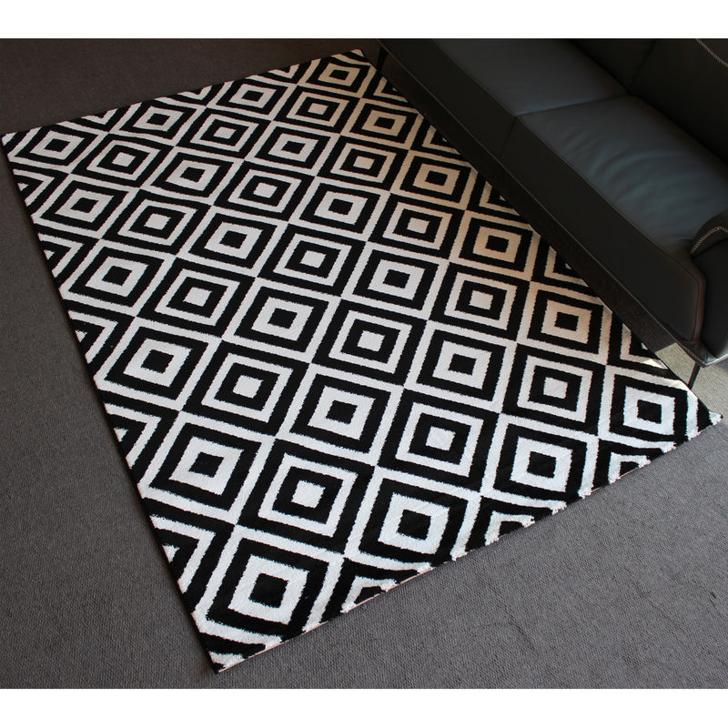 A RUG | JASMINE FE422 BLACK CREAM | Quality Rugs and Furniture