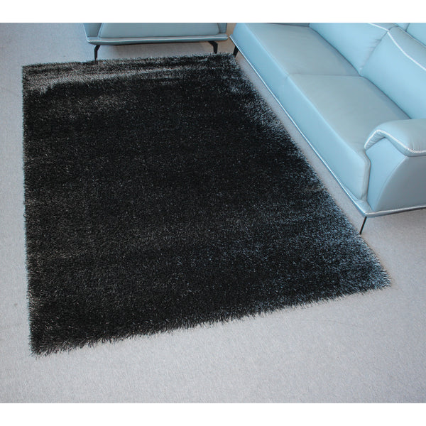 A RUG | CHANTEL SHAGGY 9000 BLACK | Quality Rugs and Furniture