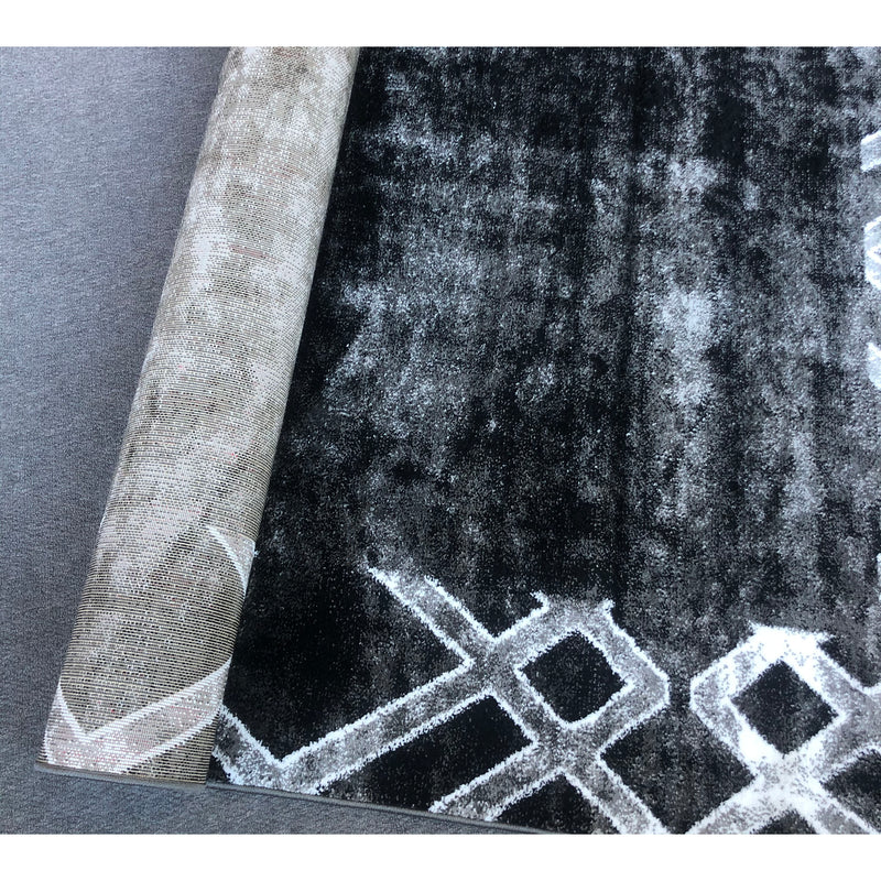 A HALLWAY RUNNERS | FEARY G6237 BLACK DARK GREY | Quality Rugs and Furniture