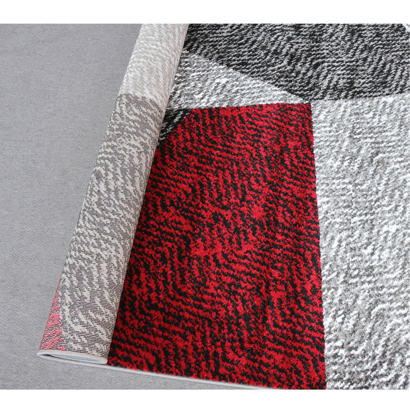 A RUG | JASMINE FE158 GREY RED | Quality Rugs and Furniture