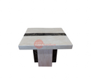 A Lamp Table | NEWCASTLE LAMP TABLE CREAM & BROWN | Quality Rugs and Furniture