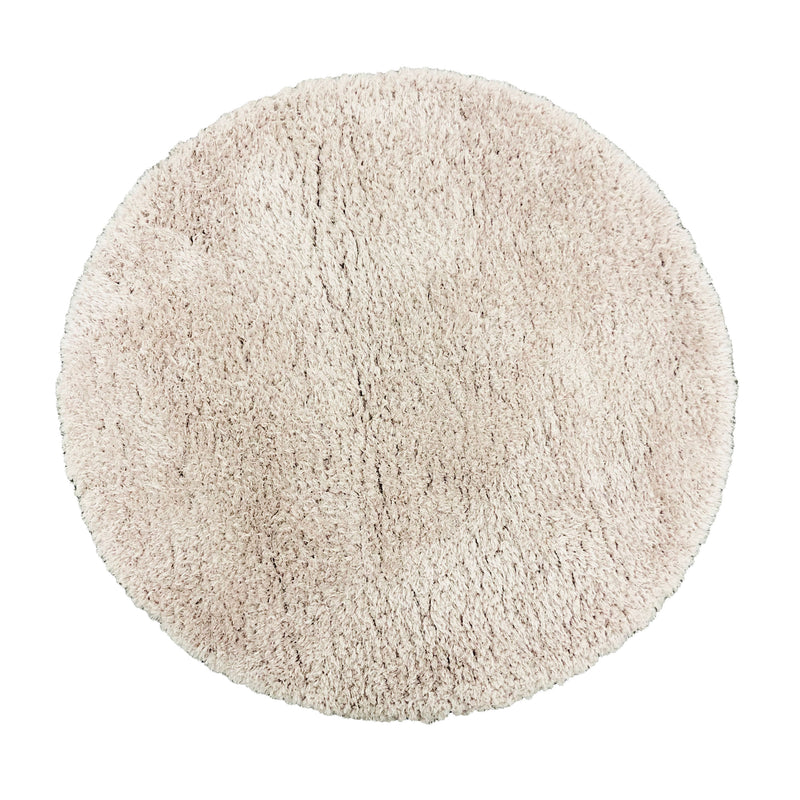 A ROUND RUG | FLOKATI 80062 LIGHT PINK | Quality Rugs and Furniture