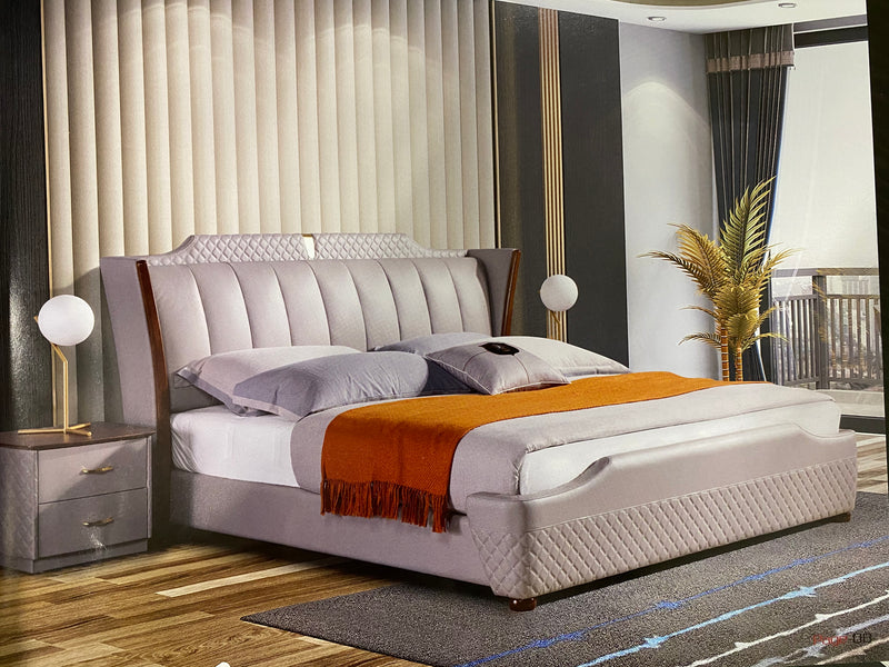 Ramzi Leather Bed