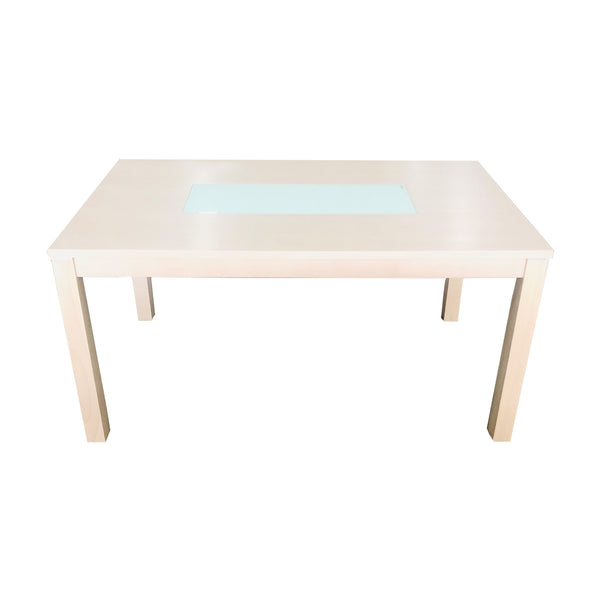 A DINING TABLE | Milky White Dining Table | Quality Rugs and Furniture