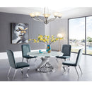 A DINING TABLE | Calvin Tempered Glass Dining Table | Quality Rugs and Furniture