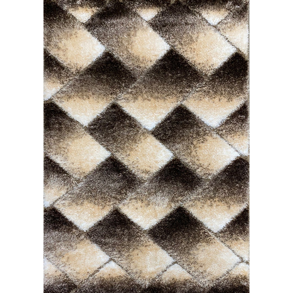A RUG | FASHION SHAGGY B376 BROWN | Quality Rugs and Furniture