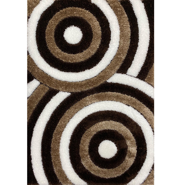 A HALLWAY RUNNERS | FASHION SHAGGY B375 BROWN | Quality Rugs and Furniture