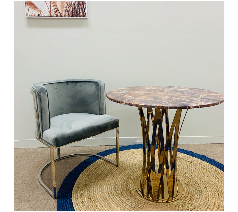 A DINING CHAIR | ROSE VELVET DINING CHAIR | Quality Rugs and Furniture