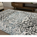 A RUG | FLORA 2803A L.BLUE / D.GREY | Quality Rugs and Furniture