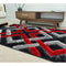 A RUG | FASHION SHAGGY B295-BLACK RED | Quality Rugs and Furniture