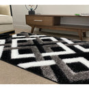 A RUG | FASHION SHAGGY B295-BLACK | Quality Rugs and Furniture