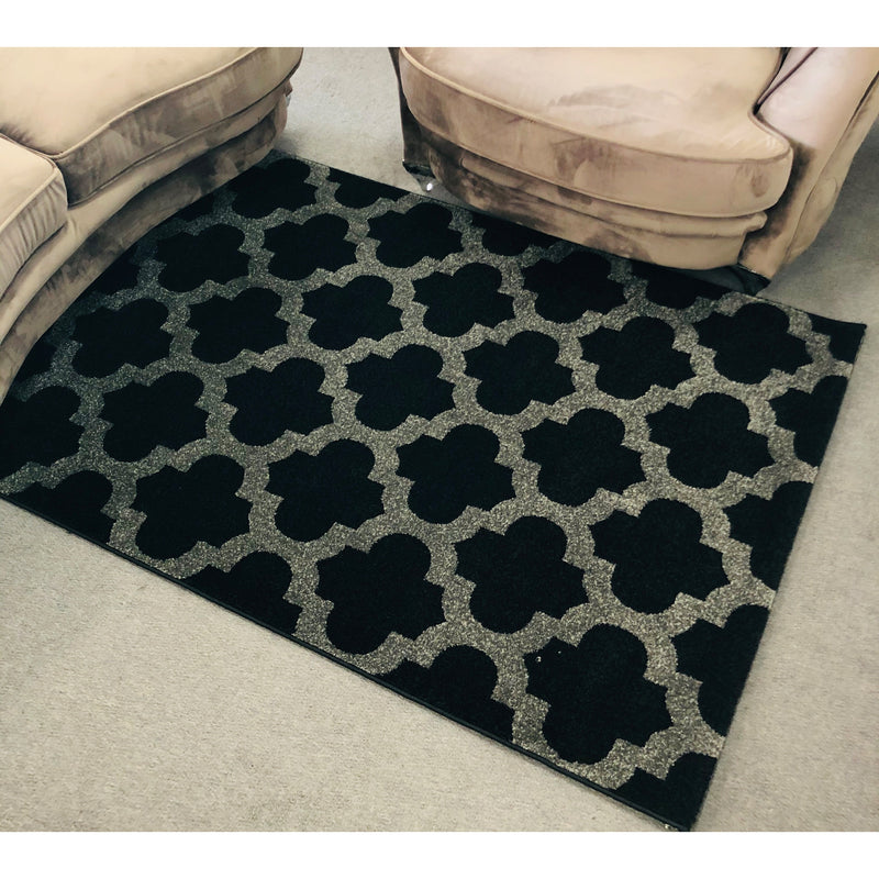 A RUG | LONDON M504 BLACK | Quality Rugs and Furniture